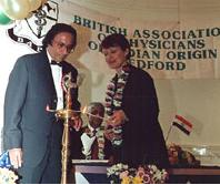 Bapio launch 1998 with Tessa Jowell