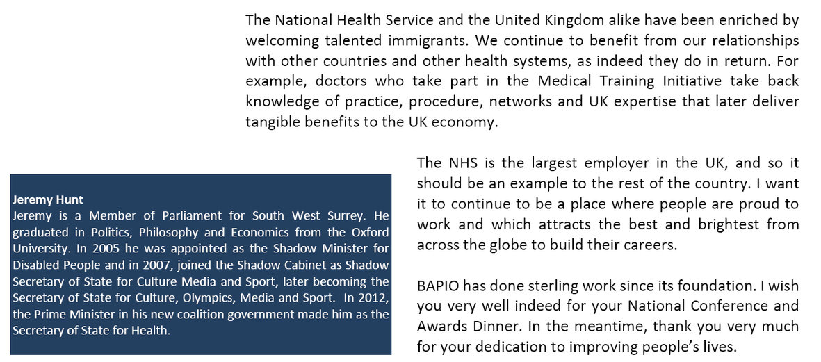Message from the Secretary of State for Health