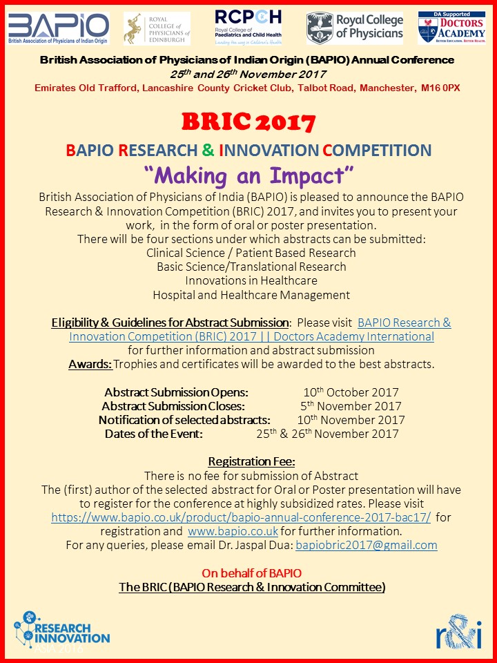 BAPIO 2017 BRIC Flyer Short