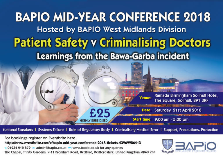 BAPIO Mid-Year Conference 2018 - Birmingham