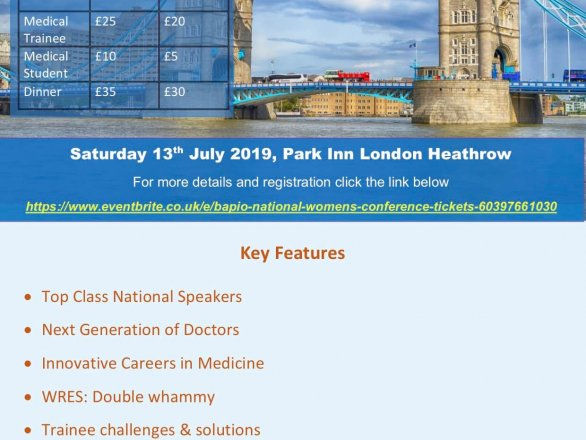 BAPIO Women's conference- 13th July London