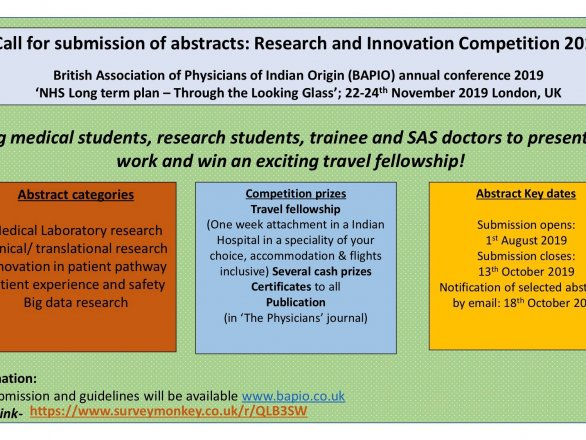 BAPIO Annual Conference 2019-Research & Innovation Competition