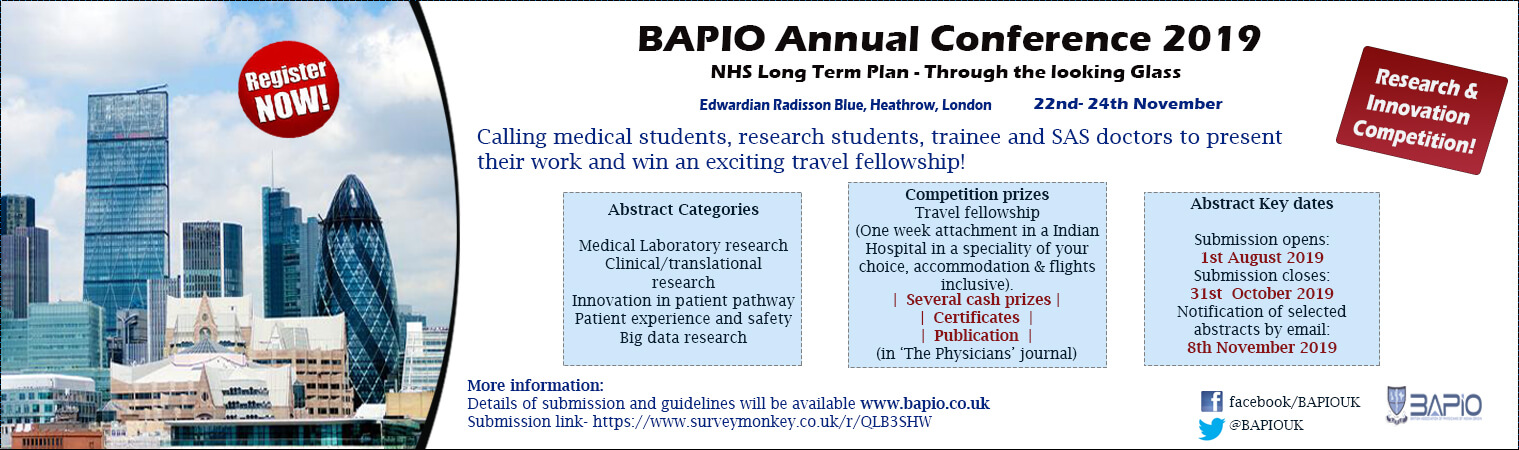 Bapio Annual Conference - RESEARCH AND INNOVATION